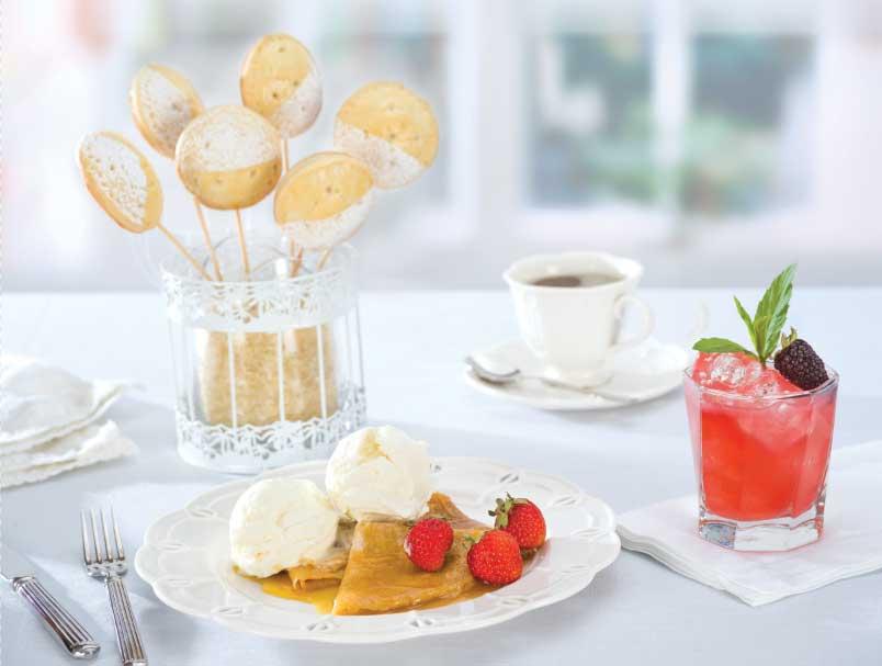 Revista Maxi Celebracion crepe suzette con helado