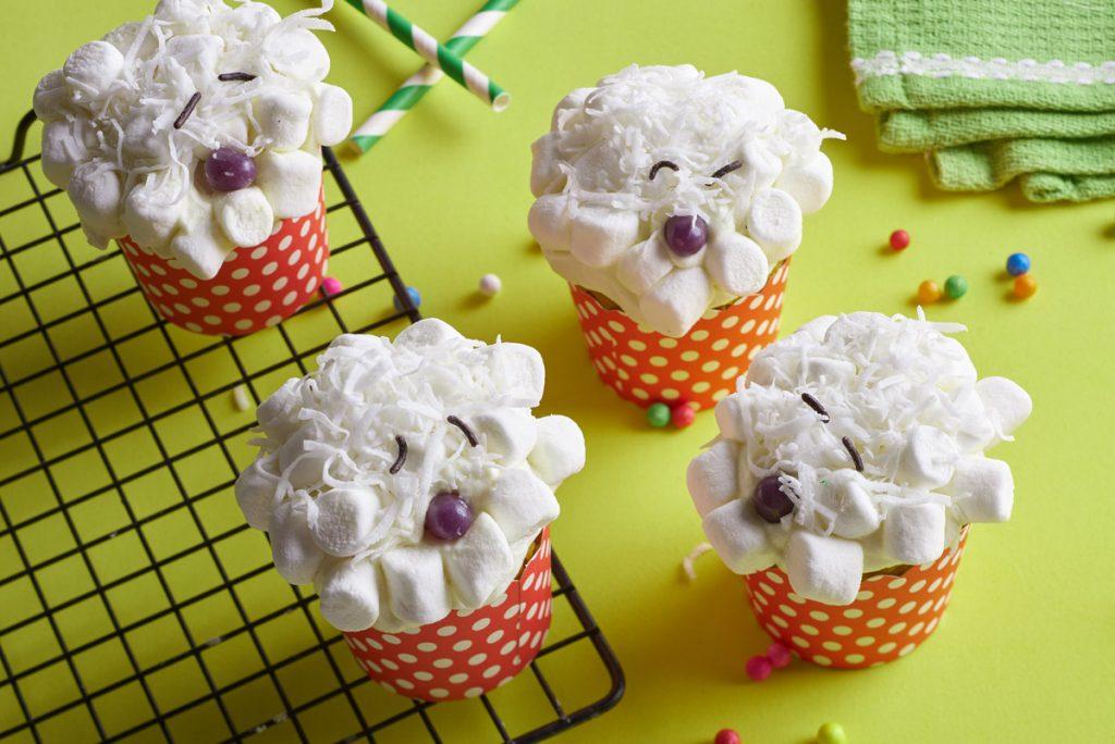 Cupcakes de ovejita