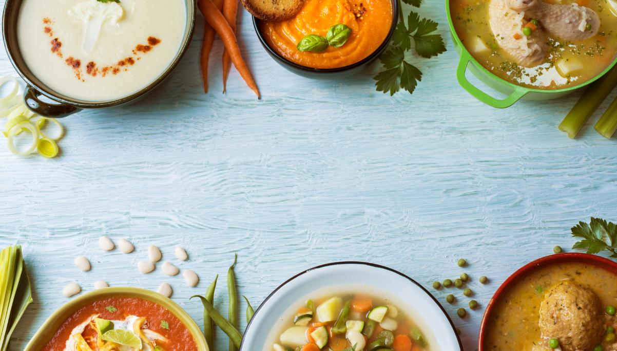 Sopas nutritivas, una alternativa sana y reconfortante