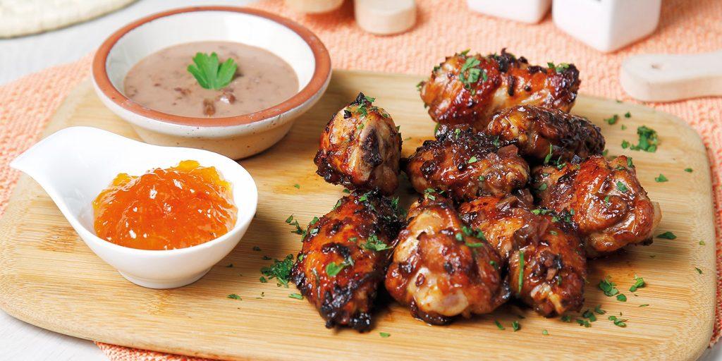 Alitas de pollo glaseadas
