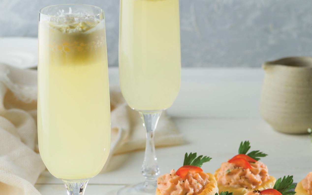 Mimosa de piña y coco