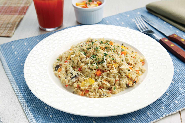 Risotto de quinua  y vegetales