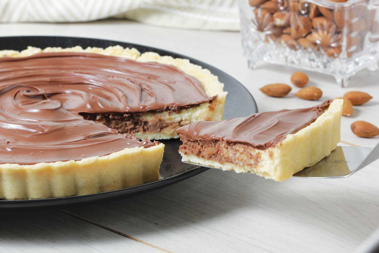 Cheesecake con cubierta de chocolate