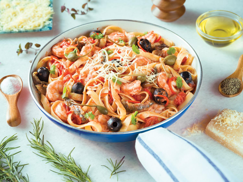 Pasta de camarones y aceite de oliva (Italia)
