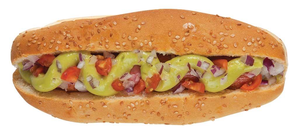 hot dog guacamole revista Maxi