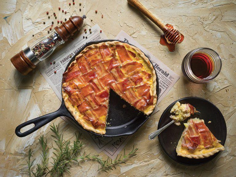 Pie de tocino y miel de maple