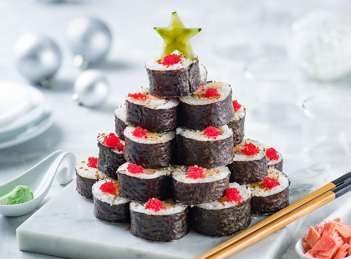 Sushi navideño