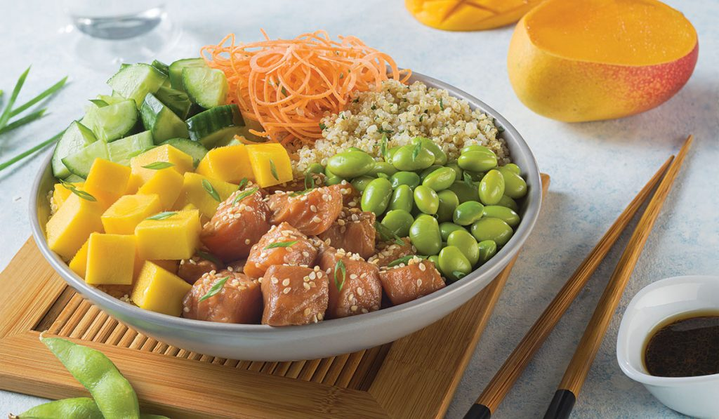 Revista Maxi - Poke Bowl de salmon