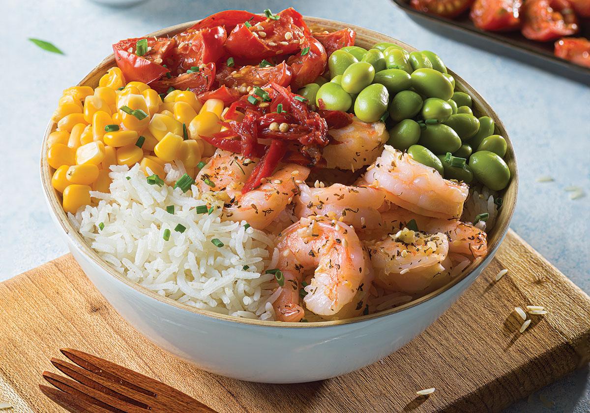 Poke bowl de camarón