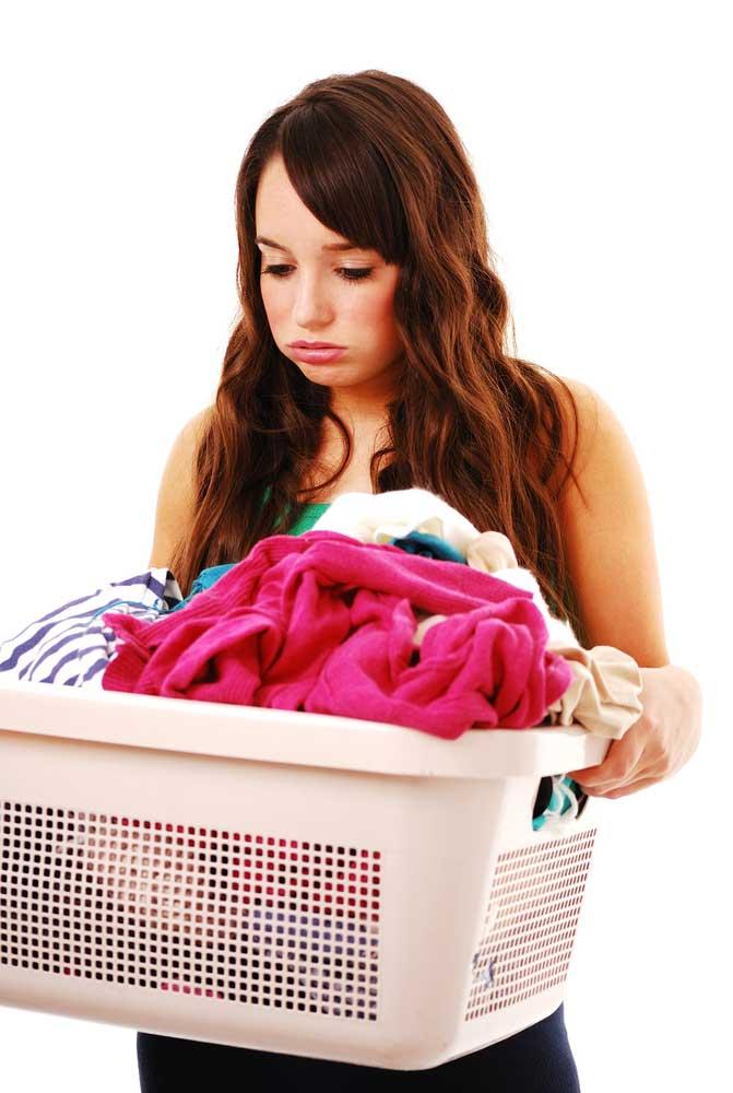 Adolecente lavanderia