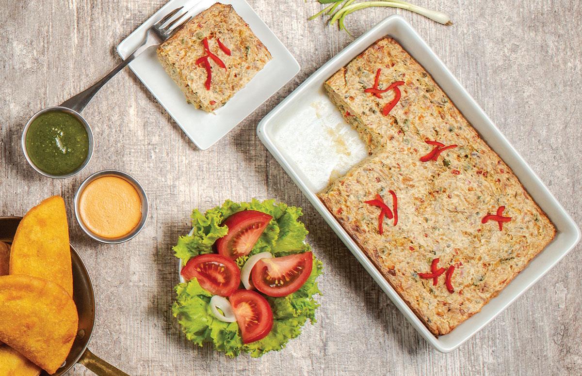 Suflé de pollo vegetales y quinua