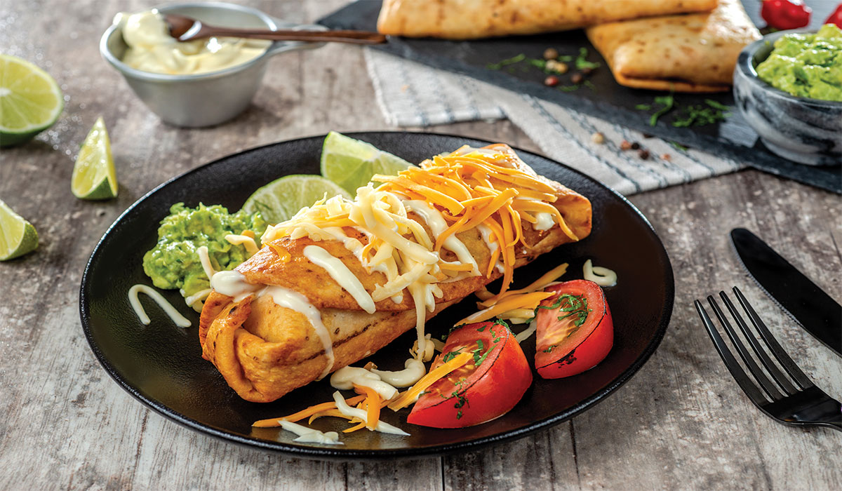 Chimichangas de pollo horneado