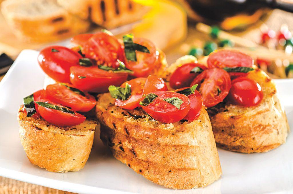 Bruscheta con tomate revista Maxionline