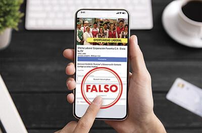 Cuidado con la publicidad falsa
