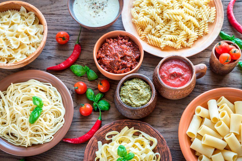 Italia en cinco salsas