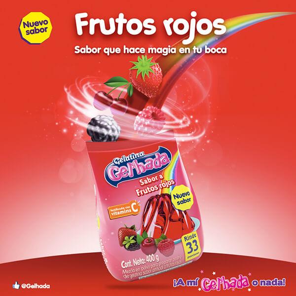 Gel'hada Frutos Rojos, un sabor que hace magia en su boca
